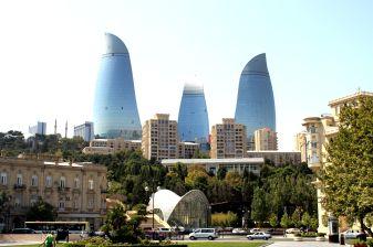 Flames Tower - Baku(View from Boulevard)