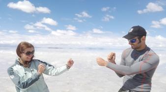 Me Vs Claudia - Salar de Uyun